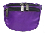 206H-PUR Lot of 2 Purple Basic Hip Pack no top straps