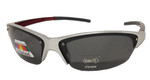 Silver/Red Polarized Sunglasses (Blank)