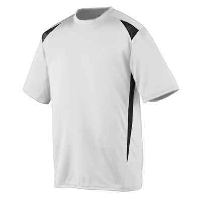 Large Men's Premier Moisture Wicking Shirt White/Black