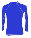 Long Sleeve Lycra Rash Guard - Royal and White