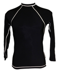 Long Sleeve Lycra Rash Guard - Black and White