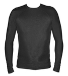 Long Sleeve Lycra Rash Guard - Black