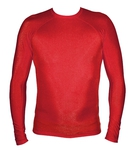 Long Sleeve Lycra Rash Guard - Red