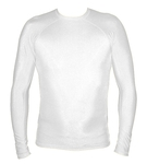 Long Sleeve Lycra Rash Guard - White
