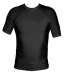 Short Sleeve Lycra Rash Guard-Black