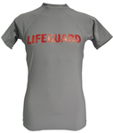 Lot of 7 Grey Medium Lifeguard Short Sleeve Lycra Rash Guard