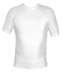 Short Sleeve Lycra Rash Guard - White