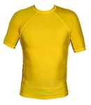 Short Sleeve Lycra Rash Guard - Yellow