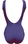 Lifeguard Tank Swimsuit-Navy