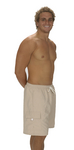 Men's Khaki Microfiber Short