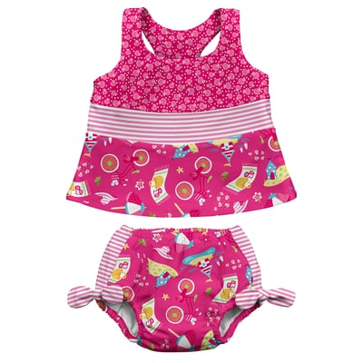 UPF 50+ Reusable Ultimate Swim Diaper Two Piece Swim Diaper Set