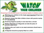 "Watch Your Children Sign 24""x 18"""