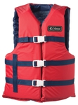 "Adult SL Nylon Life Jacket 40""-60"" (6 per Case)"