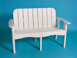 "Recycled Plastic 53"" Victorian Bench"