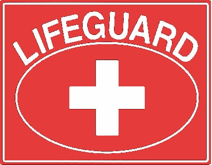 Lifeguard Oval Sign
