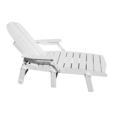 Recycled plastic chaise lounge with arms for Acrylic chaise lounge