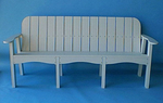 "Recycled Plastic 76"" Victorian Bench"