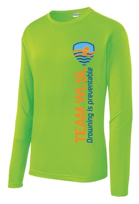 Adult WLSL Drowning is Preventable Moisture Wicking Long Sleeve T-shirt
