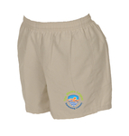 Worlds Largest Swimming Lesson Khaki Microfiber Short for Women