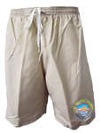 Worlds Largest Swimming Lesson Khaki Microfiber Short for Men