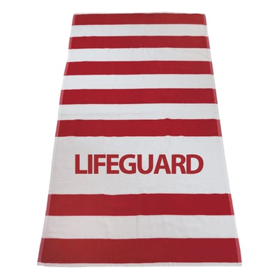 Lifeguard Striped Beach Towel