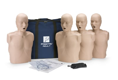 Prestan Adult Manikins with CPR Monitor 4 pack
