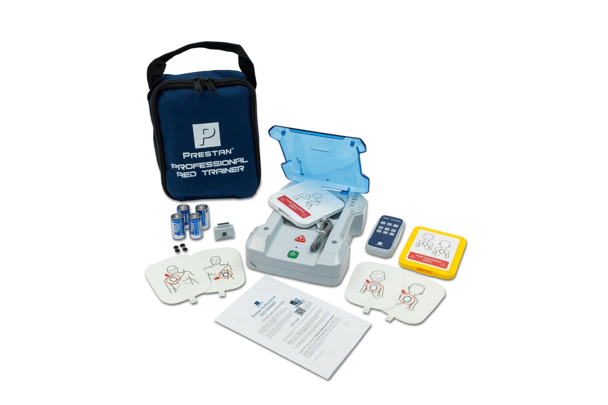 Prestan Universal AED Trainer with Adult Pads & Remote (OLDER VERSION)