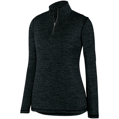 Clearance Ladies Intensity Heather 1/4 Zip Pullover Black