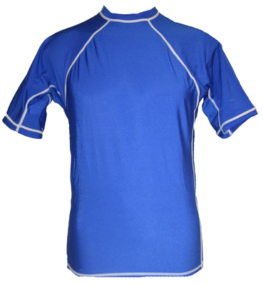 Royal and white Short Sleeve Lycra Rash Guard