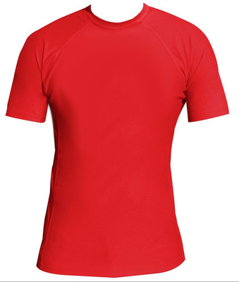 Red Performance Short Sleeve Lycra Rash Guard