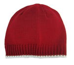 Red and White Contrast Color Knit Cap
