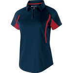 Clearance Ladies' Avenger Polo Short Sleeve Navy/Red