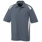 Clearance Men's Moisture Wicking Premier Polo Grey/White