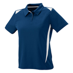 Clearance Ladies' Moisture Wicking Premier Polo Navy/White