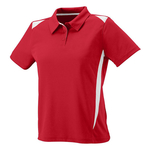 Clearance Ladies' Moisture Wicking Premier Polo Red/White