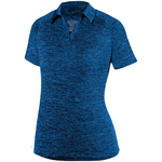 Clearance Ladies Intensity Heather Polo Royal