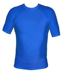 Short Sleeve Lycra Rash Guard - Royal