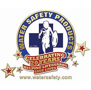 Water Safety Products 20th Anniversary Lifeguard Logo