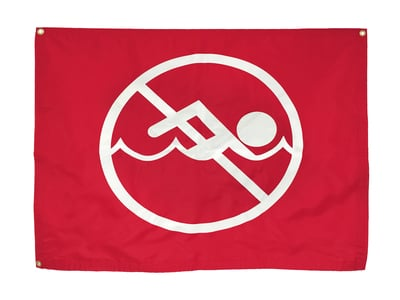No Swimming Warning Flag