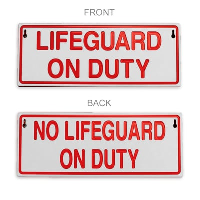 Reversible Lifeguard Duty Sign
