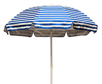 Striped Solar Guard Umbrella