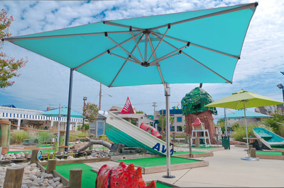 10' Square Eclipse Cantilever Resort Umbrella