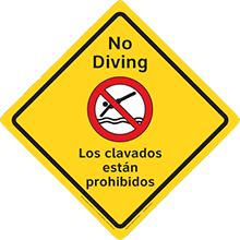 No Diving English/Spanish