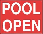 Pool Open Sign