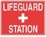 Horizontal Lifeguard Station Sign