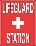 Vertical Lifeguard Station Sign
