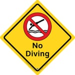 No Diving Large