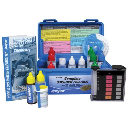 Taylor complete k 2006 fas dpd chlorine test kit - Saltwater swimming pool chemistry ...