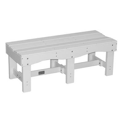 "Recycled Plastic 47"" Contoured Bench"