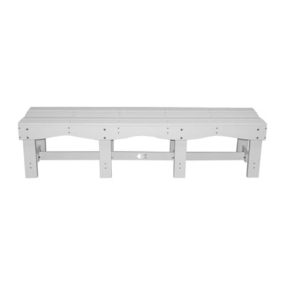 "Recycled Plastic 70"" Contoured Seat Bench"